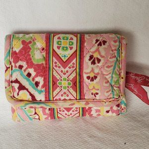 Vera Bradley Trifold Wallet Pinwheel Pink ~Retired